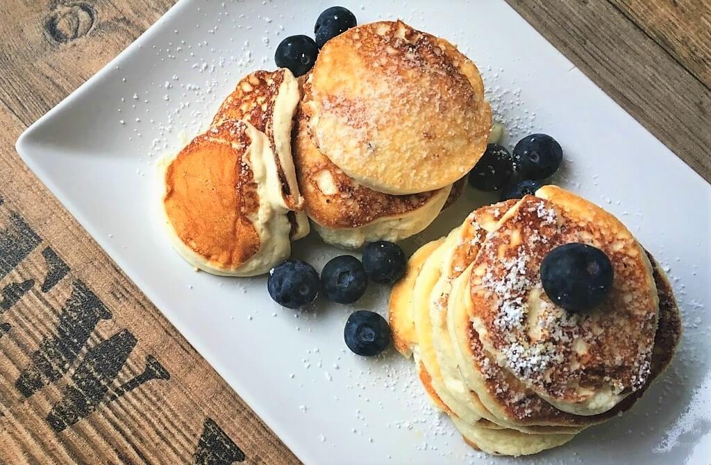 Pancakestack von oben