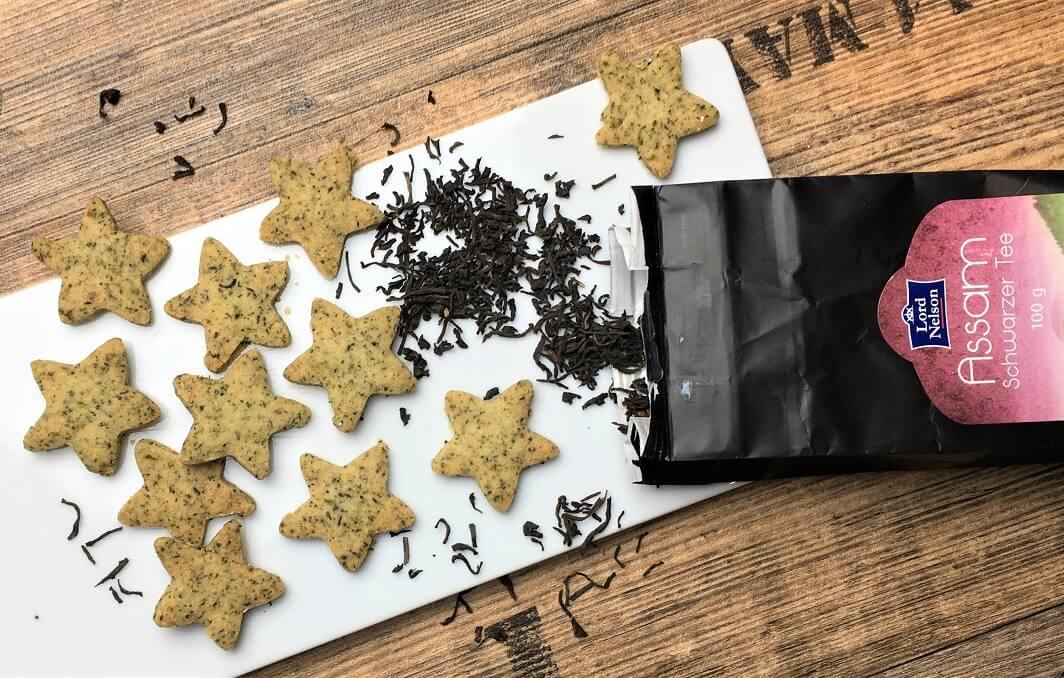 Schwarztee Cookies