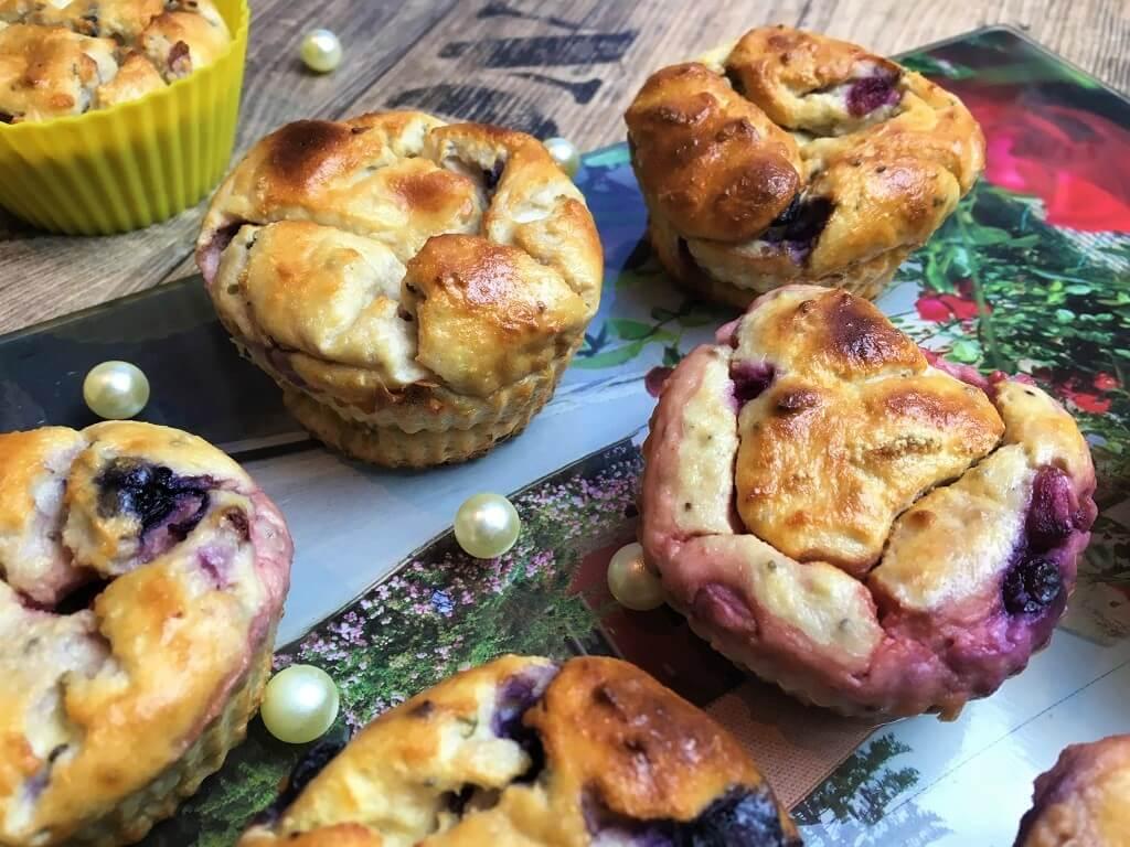 Quarkmuffins mit Beeren