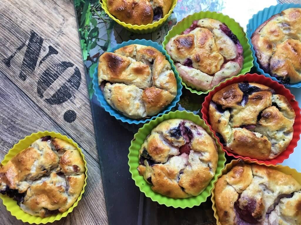 Leichte Muffins mit Quark