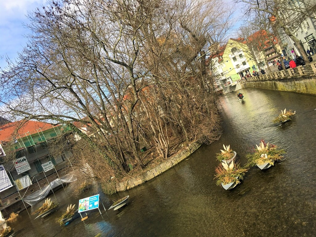 Der Fluss Gera in Erfurt