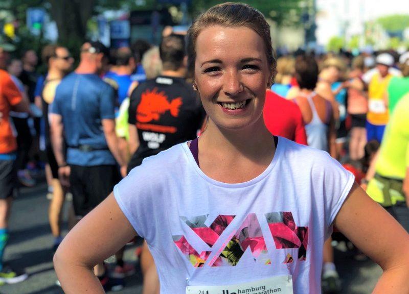 Meleini am Start in der Läufermenge