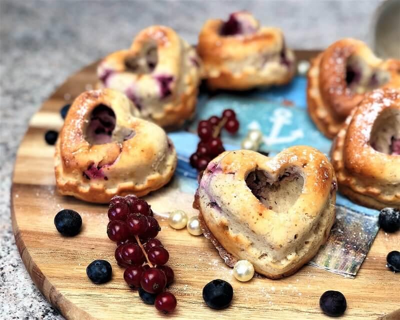 Muffins mit Himbeeren und Whey