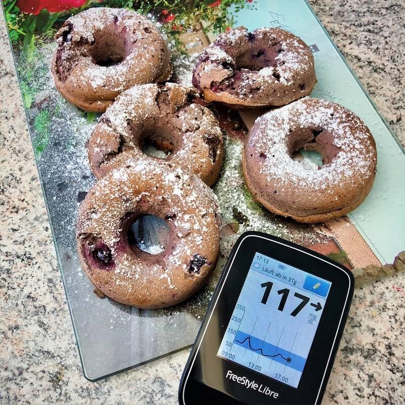 Blutzuckerreaktion auf Donuts