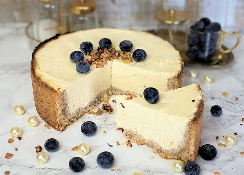Selbstgebackener Cheesecake